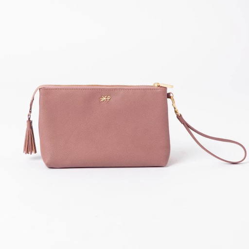 FRESHLY PICKED FRESHLY PICKED CLASSIC ZIP POUCH IN DESERT ROSE