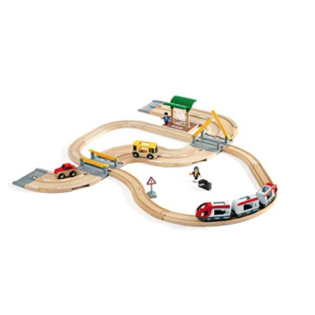 BRIO ROAD & RAIL TRAVEL SET
