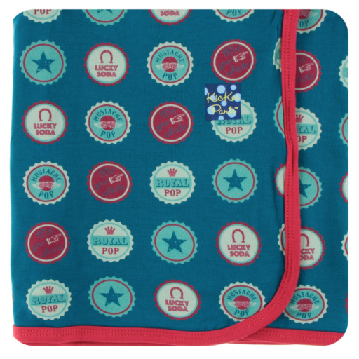 KICKEE PANTS KICKEE PANTS PRINT SWADDLING BLANKET IN SODA POP CAPS