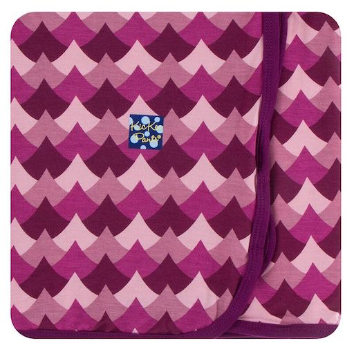 KICKEE PANTS PRINT SWADDLING BLANKET IN MELODY WAVES