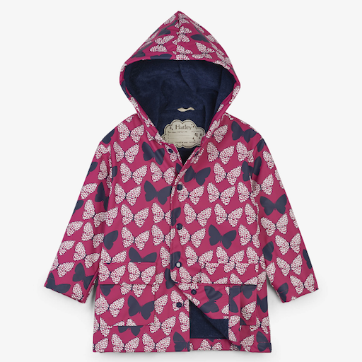 HATLEY SPOTTED BUTTERFLIES COLOR CHANGING RAINCOAT