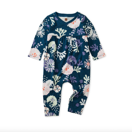 TEA SEA LIFE WRAP NECK ROMPER
