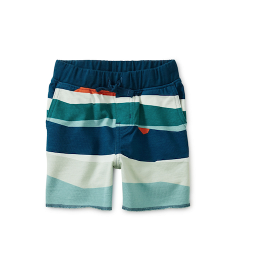 TEA PRINTED CRUISER BABY SHORTS