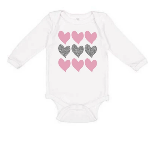 SWEET WINK TRIPLE HEART LONG SLEEVE BODYSUIT