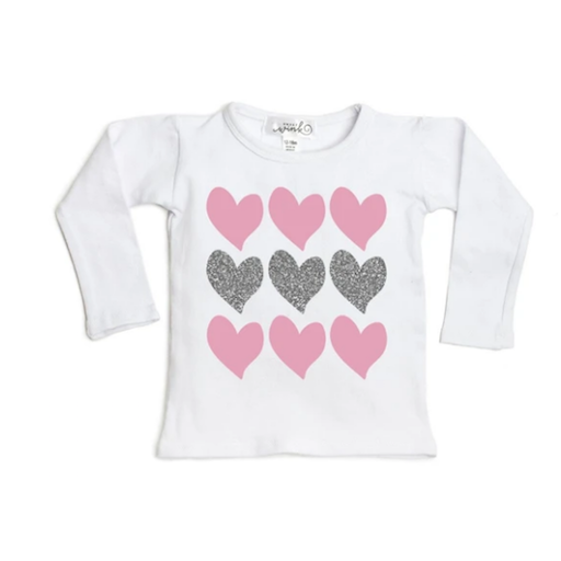 SWEET WINK TRIPLE HEART LONG SLEEVE SHIRT
