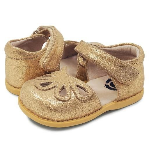 LIVIE & LUCA PETAL GOLDEN SHIMMER  SHOE