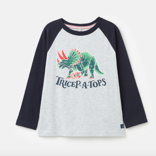 JOULES FINLAY SCREENPRINT RAGLAN