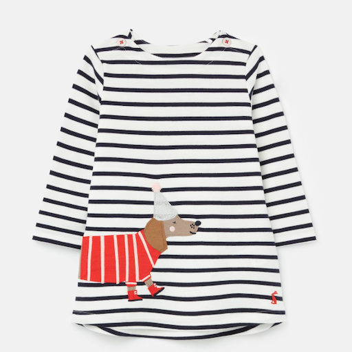 JOULES KAYE APPLIQUE DRESS