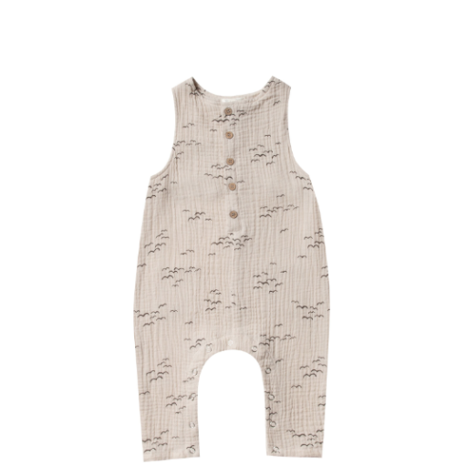 RYLEE AND CRU FLOCK BUTTON JUMPSUIT