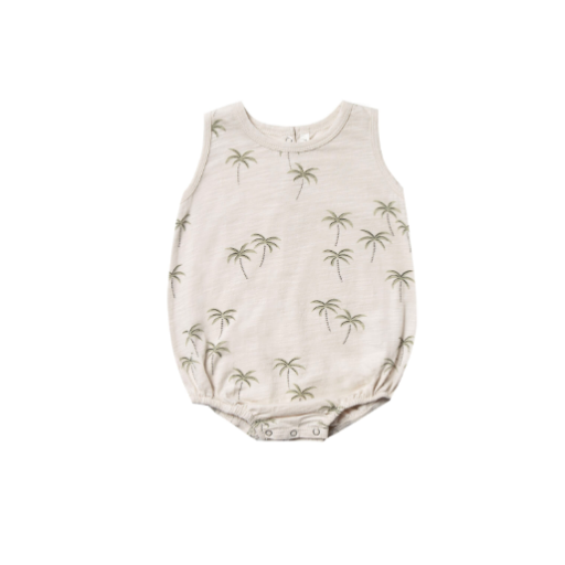 RYLEE AND CRU PALM BUBBLE ONESIE