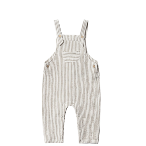 RYLEE AND CRU STRIPE BABY OVERALL