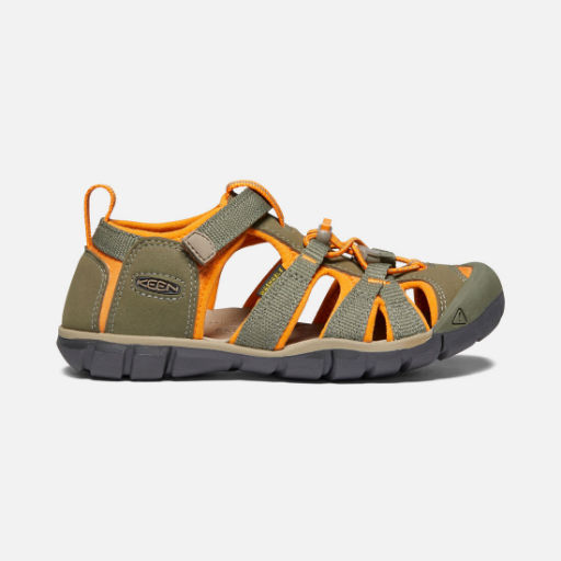 KEEN SEACAMP II CNX YOUTH DUSTY OLIVE/RUSSET ORANGE