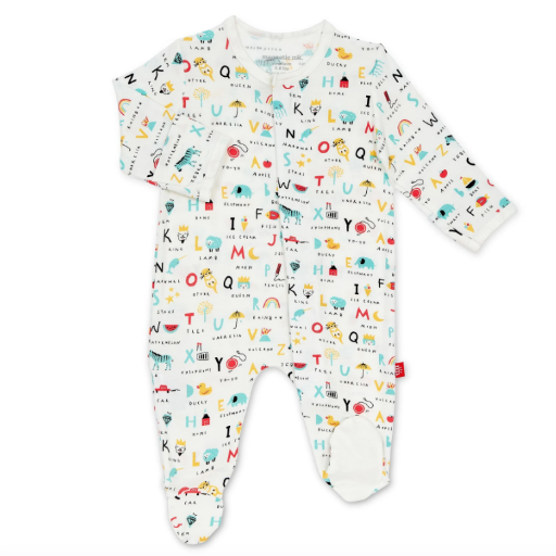 MAGNIFICENT BABY ABC LOVE MODAL MAGNETIC FOOTIE