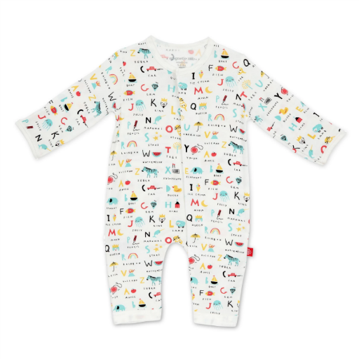 MAGNIFICENT BABY ABC LOVE MODAL MAGNETIC COVERALL