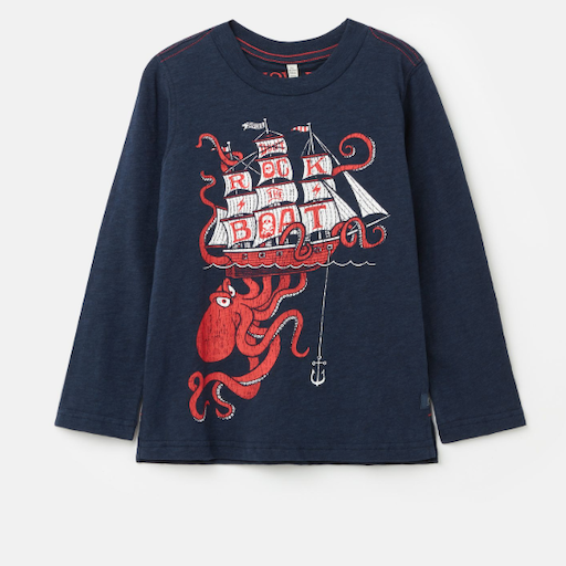 JOULES ADVENTURE TSHIRT WITH OCTOPUS