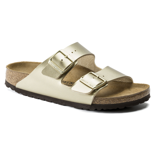 BIRKENSTOCK ARIZONA KIDS ELECTRIC METALLIC GOLD