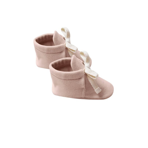 QUINCY MAE ORGANIC BRUSHED JERSEY BABY BOOTIES
