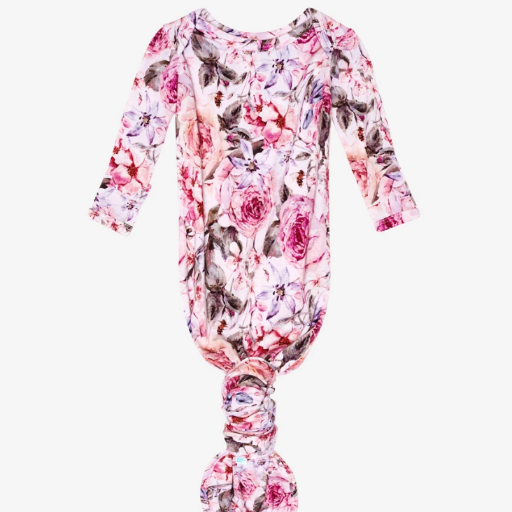 POSH PEANUT ELISE FLORAL KNOTTED GOWN