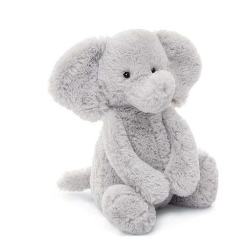 JELLYCAT INC BASHFUL MEDIUM SILVER ELEPHANT
