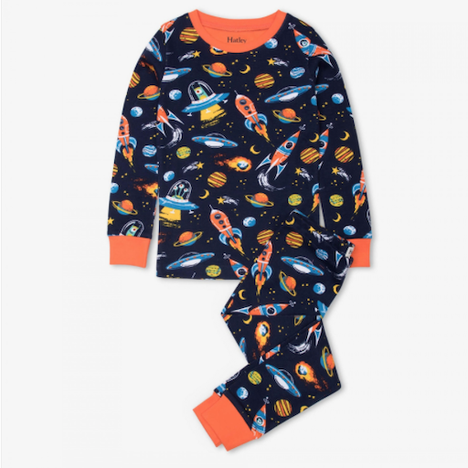 HATLEY RETRO ROCKETS ORGANIC COTTON PAJAMA SET
