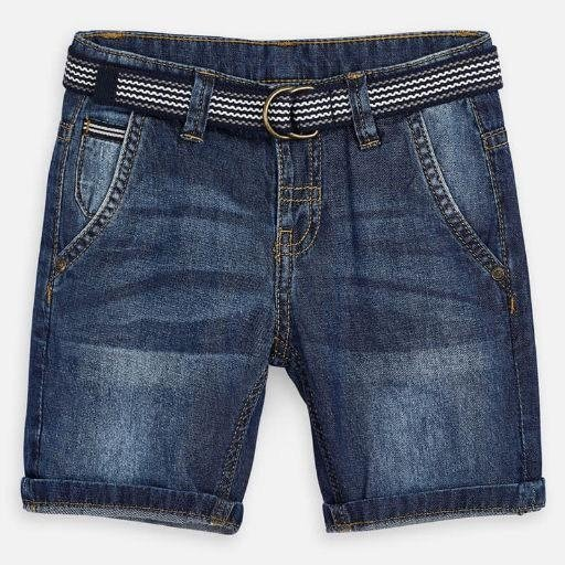 MAYORAL USA BERMUDA DENIM SHORT WITH BELT