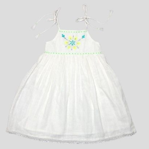 ALMIRAH DRESS ANN ORGANIC (HAND EMBROIDERED) PEARL