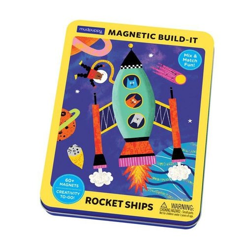 CHRONICLE BOOKS ROCKET SHIPS MAGNETIC TIN