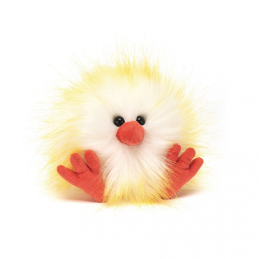 JELLYCAT INC CRAZY CHICK YELLOW & WHITE