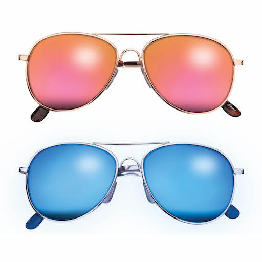 TEENY TINY OPTICS AUSTIN METAL AVIATOR SUNGLASSES