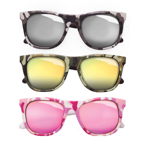 TEENY TINY OPTICS BABY CAMOUFLAGE WITH COLORED MIRRORS SUNGLASSES
