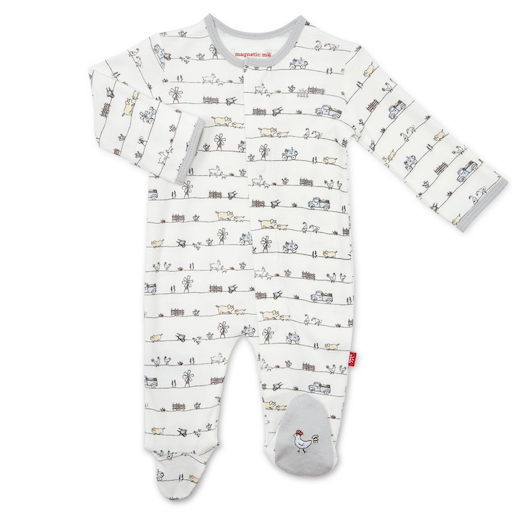 MAGNETIC ME DIG IN ORGANIC COTTON MAGNETIC FOOTIE