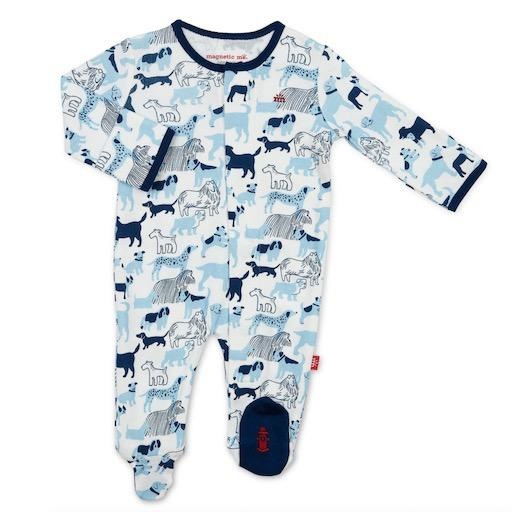 MAGNIFICENT BABY BEST IN SHOW ORGANIC COTTON MAGNETIC FOOTIE