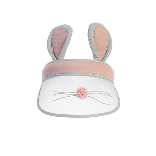 DEAR ELLIE ADORABLE VISOR HAT WITH PLUSH BUNNY EARS