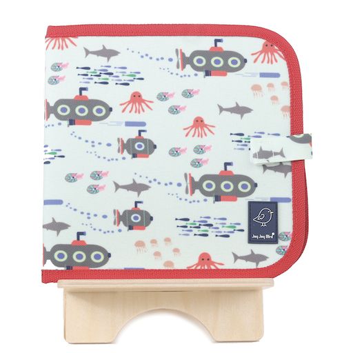 JAQ JAQ BIRD DOODLE IT & GO ERASABLE BOOK- SUBMARINE