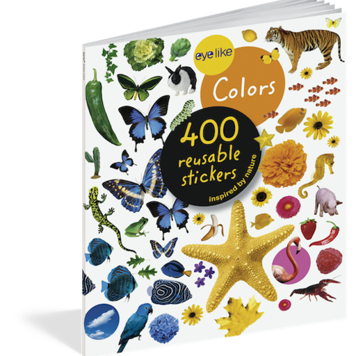 WORKMAN EYELIKE COLORS 400 REUSABLE STICKERS INSPIRED BY NATURE