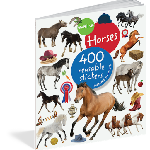 WORKMAN EYELIKE HORSES 400 REUSABLE STICKERS INSPIRED BY NATURE