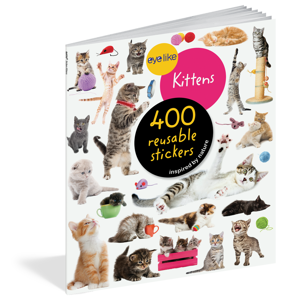 WORKMAN EYELIKE KITTENS 400 REUSABLE STICKERS INSPIRED BY NATURE