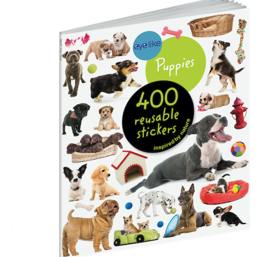 WORKMAN EYELIKE PUPPIES 400 REUSABLE STICKERS INSPIRED BY NATURE