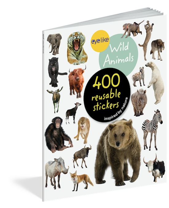 WORKMAN EYELIKE WILD ANIMALS 400 REUSABLE STICKERS INSPIRED BY NATURE