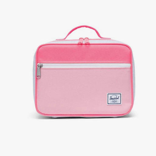 HERSCHEL POP QUIZ LUNCH BOX-PEONY/NEON PINK/BALLAD BLUE PASTEL CROSSHATCH