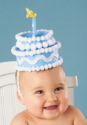 33526a3f5 BLUE FELT CAKE BIRTHDAY HAT