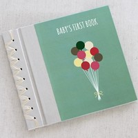 RAG & BONE BABY'S FIRST BOOK, TURQUOISE BALLOONS