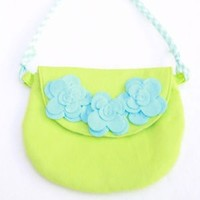 EVERBLOOM EVERBLOOM LIME GREEN AVA PURSE