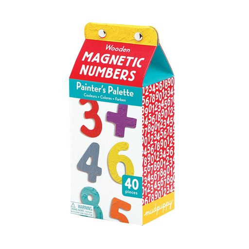GALISON MUDPUPPY PAINTERS PALETTE MAGNETIC NUMBERS