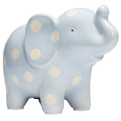 ELEGANT BABY CERAMIC BLUE ELEPHANT BANK