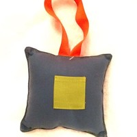 LUCY & MICHAEL BLUE SQUARE TOOTH FAIRY PILLOW