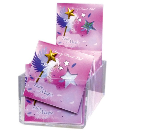 CLASSIC FAIRY MAGIC CARD WITH OPAL SAND & WAND