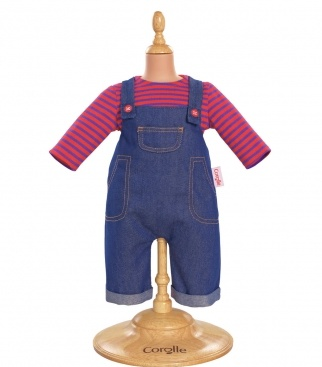 "COROLLE DENIM OVERALLS SET FOR 14"" BABY DOLL"