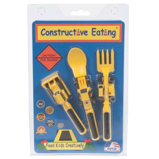 CONSTRUCTIVE EATING SET OF 3 CONSTRUCTION UTENSILS