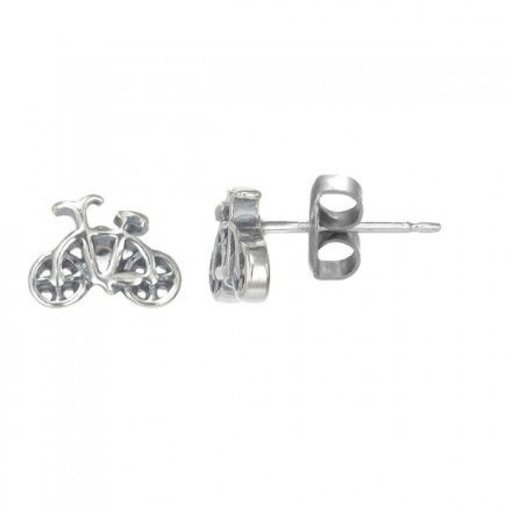 BOMA STERLING SILVER BICYCLE POST EARRINGS